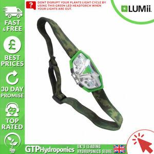 Lumii Green LED Head Torch - Grow Room Plant Safe Green Light Hydroponics