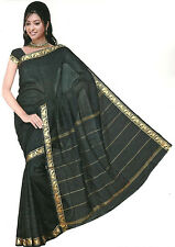 Bollywood Sari Vestido Arco Iris Negro