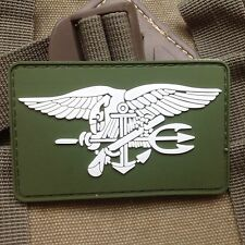 GREEN US NAVY SEAL TEAM TRIDENT 3D PVC TACTICAL ARMY MORALE RUBBER PATCH