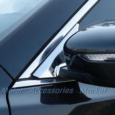 New Chrome Mirror Bracket A Pillar Trim For Nissan Rogue X-trail 2014-2018