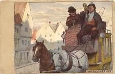 Schweiz Morgenfahrt, Hey Paul, Kutsche, Dilligence, Morgenfahrt 1900