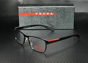 Brand New 2021 Prada Sport Authentic Eyeglasses PS 50GV 1AB-1O1 Italy Frame Rx S