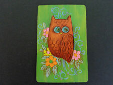 COLLECTOR ,   SINGLE  OWL , SWAP PLAYING CARD......