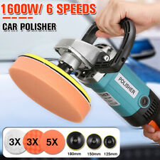 7'' 1600W Variable Speed Polishing Machine Car Polisher Buffing Waxing Sander US
