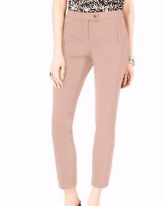 Alfani Womens Dress Pant Clay Pink Size 6 Slim Leg Stretch Ankle Trouser $69 171