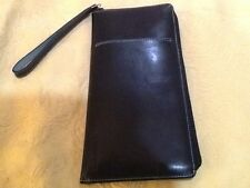 Kenneth Cole Black Deep Navy Wallet Wristlet Organizer