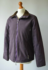 Ladies Barbour MicroFibre  Purple Jacket L22 Fitted Size 10