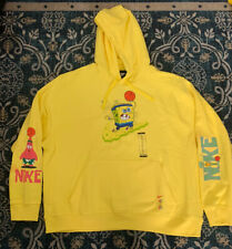🔥New Nike Kyrie x Spongebob Pullover Hoodie Volt Yellow (CQ7184-740)Men's 2XL🔥