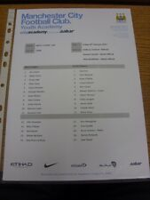14/02/2014 Manchester City U21 v Stoke City U21  (single sheet). Thanks for view