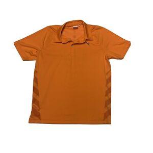 Puma Men's Golf Polo Shirt Medium Orange Lifestyle Ricky Fowler Sport