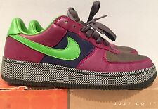 Authentic Nike Air Force 1 low insideout midnight fog green bean grape 9.5 2006