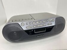 Sony Boombox CFD-S05 CD Player Radio Stereo & Cassette Tape Mega Bass TESTED