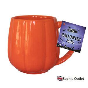 Halloween Orange Pumpkin Mug coffee Cups Tea Spooky Party Tableware Gift Decor