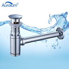 Pop Up + Siphon Sifon mit Überlauf Abfluss Ablaufgarnitur für Waschbecken