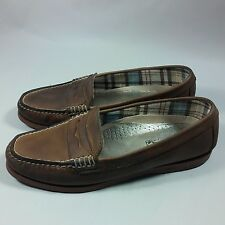 Women's  Sperry Top-Sider Slip-on Comfort Loafers Walking Shoes-Brown-9 M