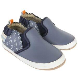 NIB ROBEEZ Mini Shoez Shoes Lighting Rod Bolt Blue 3-6m 2
