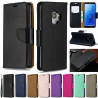 Litchi Wallet Leather Flip Case Cover For Samsung A10s A20s A30s A50s A51 S10 S9