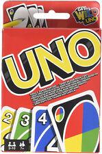 Carte UNO Classic Originale Mattel W2087 Gioco Tascabile e da Viaggio 108 Pezzi