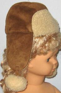 New babyGap Size 0-3 Months (17 inches circumference) Brown Shearling Hat