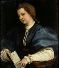 Nice Oil painting andrea del sarto - Lady with a book of Petrarch's rhyme canvas