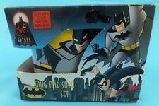 Vintage Batman Y Robin Taza y calcetín Set 1998 edad 6-9 Coleccionable