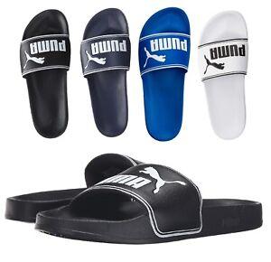 NEW Puma Men's Leadcat Logo Fashion Shoes Slip On Slide Sandals Many Colors