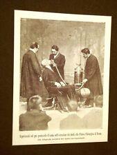 L'odontoiatria nel 1899 Roma clinica Esperimento gas protossido d'azoto denti