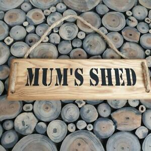 Handmade  'MUM'S SHED'' wall plaque