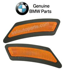 BMW F22 F23 228i Set of Front Left & Right Reflector Bumper Cover Yellow Genuine