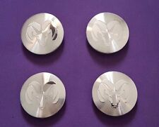 4pcs for Dodge Ram Dakota Machined Silver Wheel center caps rim emblem 63mm