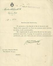 Ministero della Casa del Re Ringraziamenti di Re Vittorio Emanuele III 1933