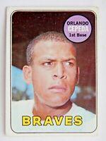 Orlando Cepeda #385 Topps 1969 Baseball Card (Atlanta Braves) VG