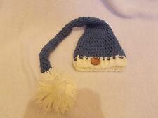 Baby crochet longue queue elf pixie pom pom hat photo photographie accessoires 0-3 mois