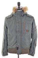 G-STAR Mens Parka Jacket Size 40 Medium Khaki Cotton