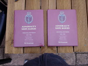 SHIPS CREST - BOOKS - ADMIRALTY SHIPS BADGES - 2 VOLUMES STOPFORD MINT CONDITION