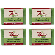 PAPAYA WHITENING SOAP CELLACTIVE Pack 4 Reduces Age Spots Wrinkle Pigmentation