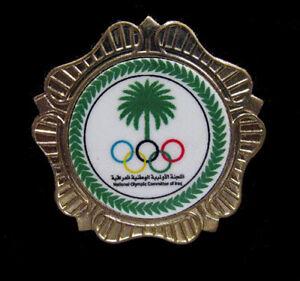 TOKYO IRAQ Olympic NOC TEAM new design scarce limited  XL gold shield pin