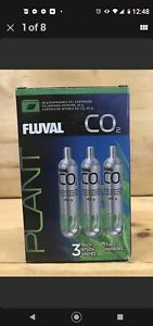 3-Pack Fluval Pressurized 45g CO2 Disposable Replacement Cartridges Aquarium New