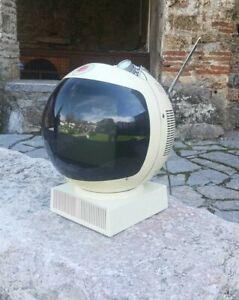 1970's space age JVC TV, JVC TV Nivico Solid State space helmet TV, Videosphere
