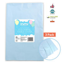 3 PCK Plastic TABLECOVERS Table Cloth Cover Party Pastel Tablecloth