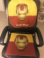 Universal Car Seat Back Cover And Seat Cushion Set, Chair Seat, Iron Man