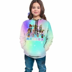 Roblox Character Girls Kids Hooded Sweatshirt Long Sleeve Hoodie Pullover Jumper