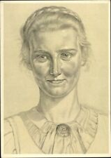 1941 German young woman portrait Willrich postcard WW2 Cartolina Tedesca
