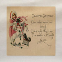 Christmas Poem Printed On Fabric Panel Make A Cushion Upholstery Craft