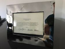 Michael Aram Reflective Picture Frame 5x7 Bonus Obama Signed Card
