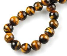 16 Inch Strand Tigers Eye Round Beads 8MM