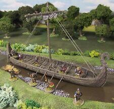 28MM Viking Longship-Resina Pintada Para Coleccionistas estándar.