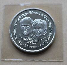 ROYAL WEDDING SOPHIE & EDWARD 1999 GIBRALTAR 1 CROWN COIN UNC