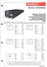 Nordmende Original Service Manual für Teleplay Tele Play Spiele-Set 8.502