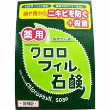 KOKURYUDO Medicated Chlorophyll Face / Back Acne Cleansing Soap From Japan